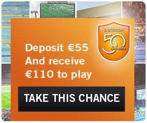 Wedden op voetbal Bookmaker Betsson 55 euro bonus